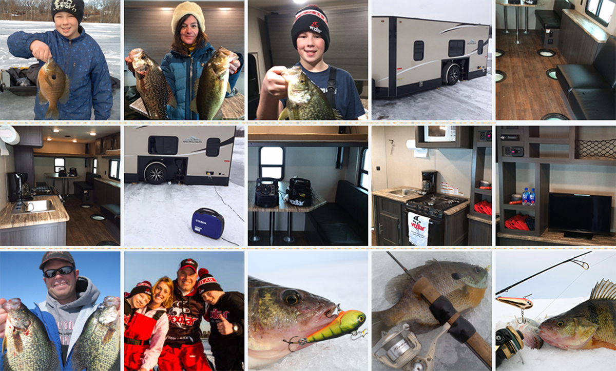 Ice Fishing Collage
